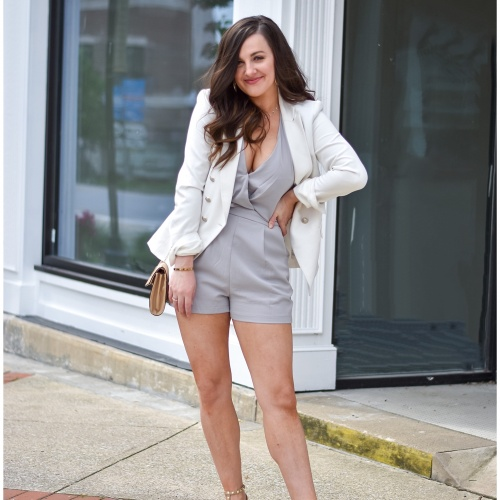 Post-Quaratine Style | Multi-Purpose Grey Romper