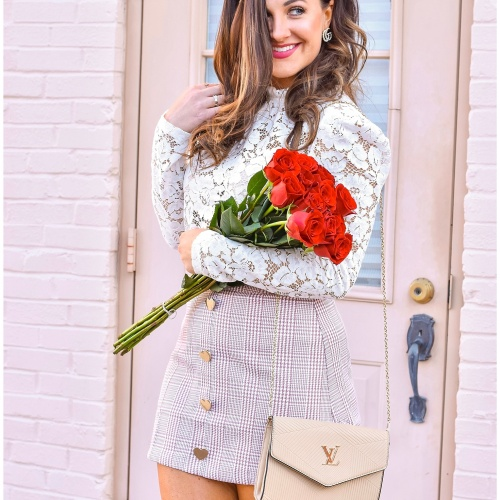 Valentine's Day Style Series | Neutrals, Lace, and Plaid